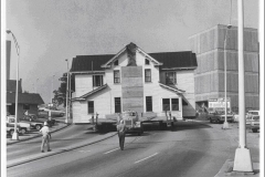 The Kilgore-Lewis House being moved to its present location in 1974. Photo by Joe F. Jordan.